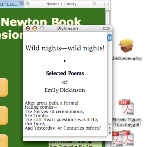 Newton\'s Library Firefox eBook reader